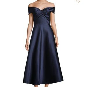 Theia Midi Dress Navy Blue New with Tags